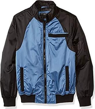 Urban Republic Mens Heavy Poly Satin Jacket, Green, XL