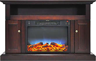 Cambridge Silversmiths CAM5021-2MAHLED Sorrento Electric Fireplace with Multi-Color LED Insert and 47 In. Entertainment Stand in Mahogany