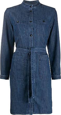A.P.C. Camicia denim con cintura - Di colore blu