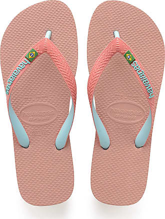 Havaianas Brasil Mix, Unisex Adults Flip Flops, ROSE NUDE, 9/10 UK (45/46 EU)
