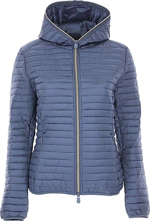 Save The Duck Jacket for Women On Sale, Dusty Blue, polyester, 2017, 4 (XL - 46/48)