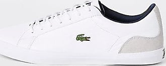 51907eea8e11 Lacoste Mens Lacoste White leather contrast trainers