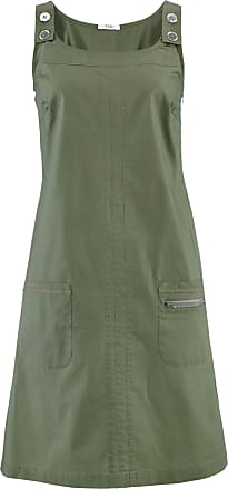 Bonprix Dam Stretchklänning med paper touch-yta i grön utan ärm - bpc  collection d8221a0a494aa
