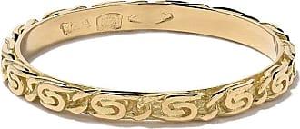 Wouters & Hendrix 18kt yellow gold Snail Diamond Chain ring