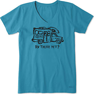 Life is good Womens RV There Yet Crusher Vee XXXL Seaport Blue