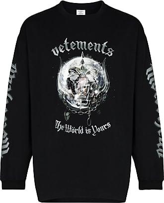 VETEMENTS x The World Motorhead crew neck sweatshirt - Preto