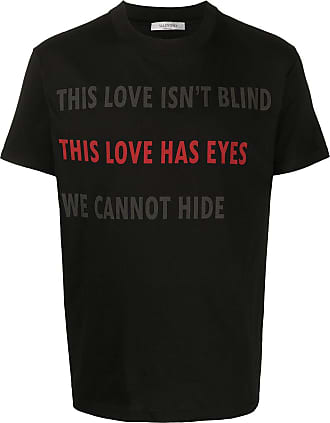 Valentino T-shirt This Love Has Eyes - Di colore nero