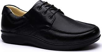 Doctor Shoes Antistaffa Sapato Masculino Esporão 3050 em Couro Floater Preto Doctor Shoes-Preto-39