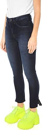 Calvin Klein Jeans Calça Jeans Calvin Klein Jeans Skinny Cropped Estonada Azul