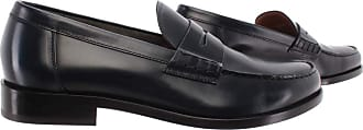 Doucal's Mens Loafers Horse Goose Leather Dark Blue