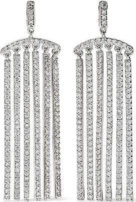 Kenneth Jay Lane Cz By Kenneth Jay Lane Woman Rose Gold-tone Crystal Earrings Silver Size