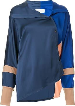Peter Pilotto Camisa assimétrica color block - Azul