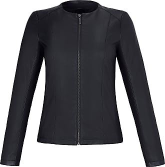 Emilia Lay Faux leather jacket round neckline Emilia Lay black