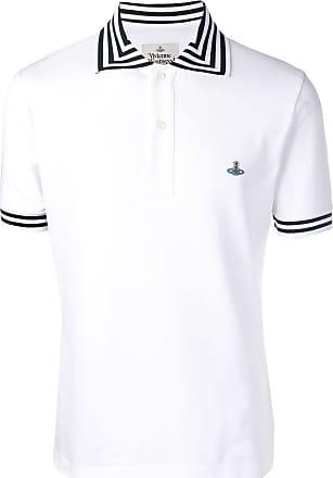 Vivienne Westwood striped trim polo shirt - White