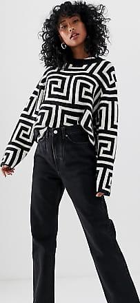 Weekday Row - Schmale Jeans mit geradem Beinschnitt aus Bio-Baumwolle in verwaschenem Schwarz