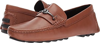 5bdeb65d9e2 Coach Crosby Turnlock Driver Leather (Dark Saddle) Mens Shoes