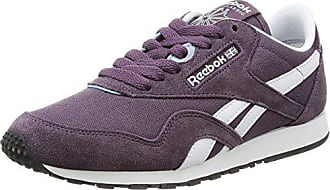timeless design b9e43 51965 Reebok Cl Nylon Slim Hv, Sneakers Femme, Gris (Meteorite Purple White