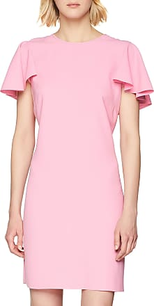 Pinko Womens Attraente Abito Crepe Dress, Multicolour (Rosa/Rosso Nr1), 12 (Size: 44)