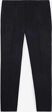 The Kooples Slim-fit navy blue wool suit trousers - MEN