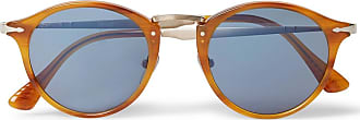 Persol Round-frame Tortoiseshell Acetate And Gold-tone Sunglasses - Brown