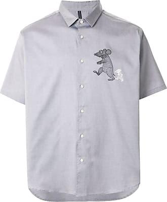 Blackbarrett Camisa com estampa de rato - Cinza