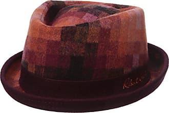 Robert Graham Headwear Mens Delevan Fedora, Burgundy, Large