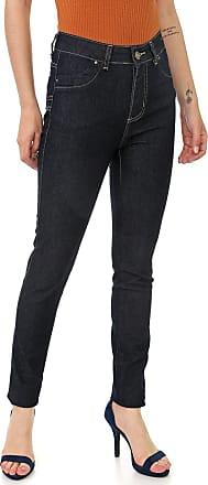 Sawary Calça Jeans Sawary Skinny Pespontos Azul-Marinho
