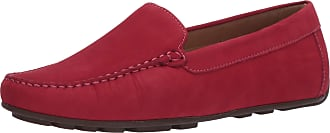 Driver Club USA Womens Leather Made in Brazil Driving Loafer with Venetian Detail, Pink Nubuck/Natural Sole, 5.5 UK