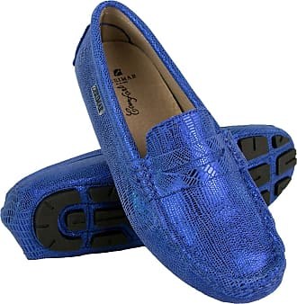 Zerimar Moccasins Womens Shoes | Loafers for Women | Leather Flats Women | Casual Moccasin Loafer Leather | Loafers Mocassins Elegant Womens Blue