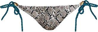 Heidi Klein Reversible Snake-print Side-tie Bikini Briefs - Womens - White Multi