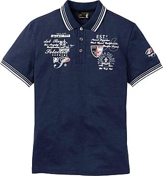 a8dc583bdf Bonprix Poloshirt mit aufwendiger Verzierung kurzer Arm in blau von bonprix