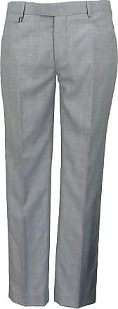 Relco New Mod Retro Sta Press Trousers Dogtooth 42 W Grey