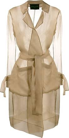 Fabiana Filippi sheer silk trench coat - Brown