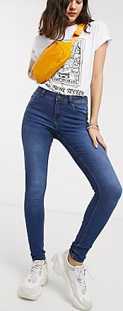 Noisy May Jeans modellanti a vita alta blu
