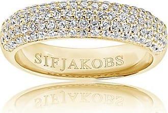 Sif Jakobs Jewellery Ring Melazzo - 18K vergoldet mit weißen Zirkonia