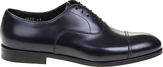 Doucal's Leather Derby Shoes, 40.5 Black