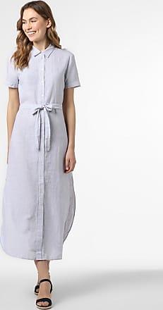 A|X Armani Exchange Damen Kleid mit Leinen-Anteil blau