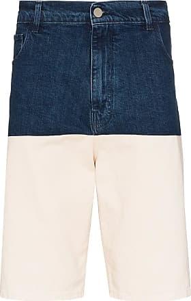 Raf Simons Bermuda jeans bicolor - Azul