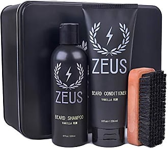 Zeus Basic Beard and Mustache Grooming Kit for Men, Vanilla Rum