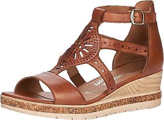 Remonte Women Sandals, Ladies Wedge Sandals,Wedge Sandals,Summer Shoes,Comfortable,Flat,Muskat / 24,41 EU / 7.5 UK