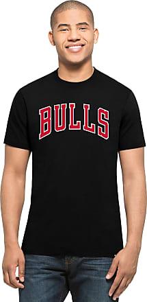 47 Brand 47 Forty Seven Brand Chicago Bulls MVP Splitter Tee NBA T-Shirt Mens Black
