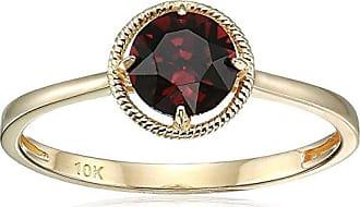 Amazon Collection 10k Gold Swarovski Crystal January Birthstone Ring, Size 8