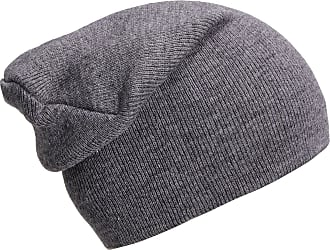 DonDon winter hat slouch beanie warm classical design modern and soft platinum grey