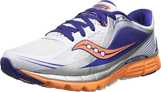 Saucony Womens Kinvara 5 Running Shoe,White/Twilight/Sunset,7 M US