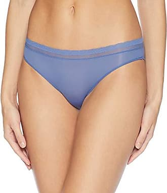 3d36eda7819 OnGossamer Womens Next to Nothing Micro Hip Bikini Panty, Blue Spell, L