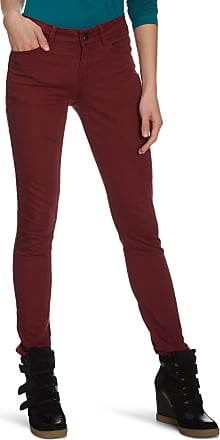 Pieces Womens Skinny/Slim Fit Trouser - Red - Rot (Burgundy) - 36W/38L