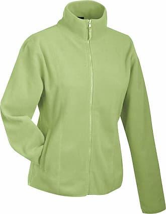 James & Nicholson JN049 Womens Girly Micro Fleece Full Zip Jacket Lime Green Size L