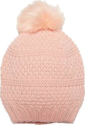 Handmade Winter Cap Hat Hair Earwarmer Fashion Girl Blush Pink Double Layer Knit Beanie w Removable Baby Dusty Pink Faux Fur Pom