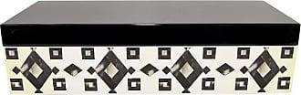 Three Hands Black and White Wood Box - 93077