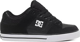 DC Mens Pure Skate Shoe, Black/Black/White, 9.5 UK